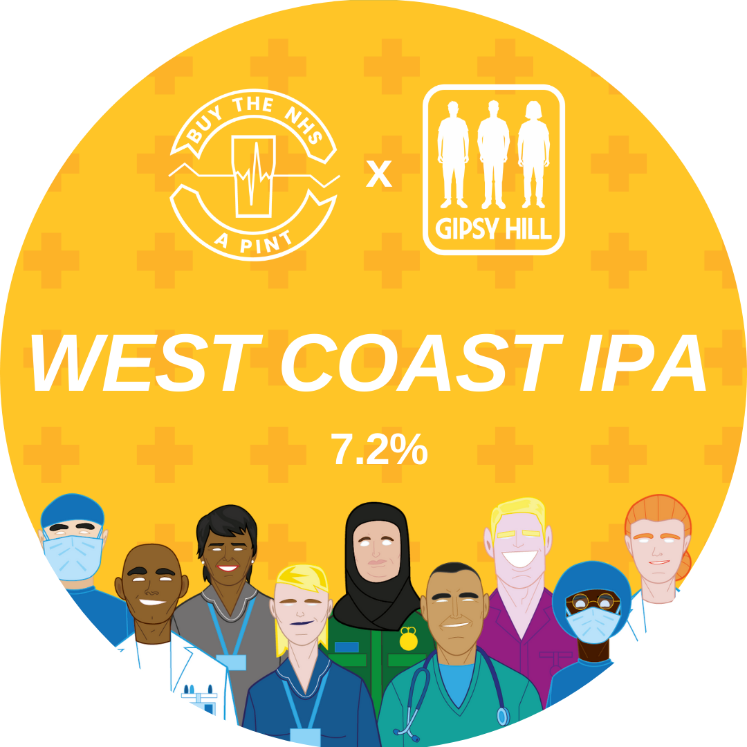 BUY THE NHS A PINT West Coast IPA 7.2% 440ml Gipsy Hill Brewing