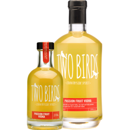 Two Birds Passion Fruit Vodka 29% 200ml & 700ml
