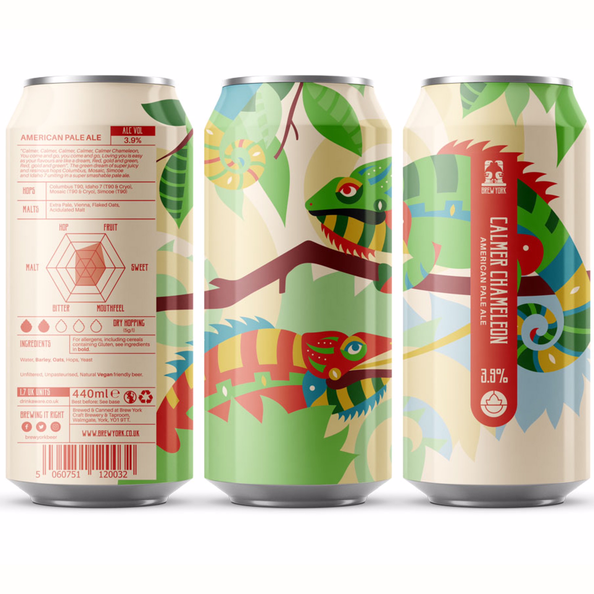 Calmer Chameleon American Pale Ale 3.9% 440ml Brew York