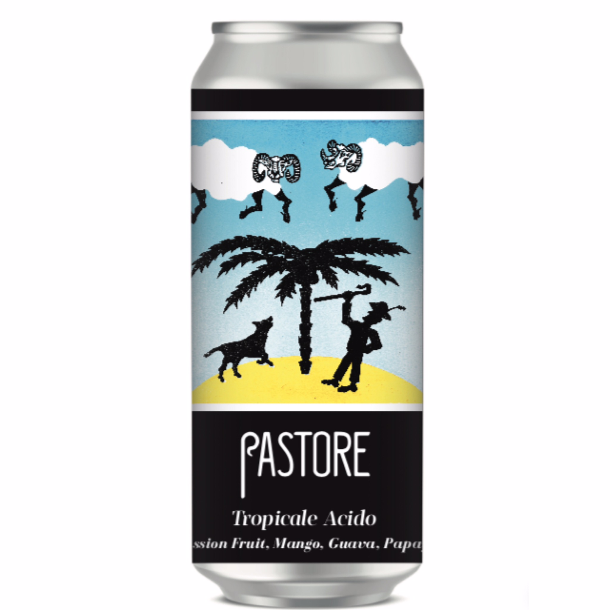 Tropicale Acido Imperial  Waterbeach Weisse 7% 440ml Pastore Brewing & Blending