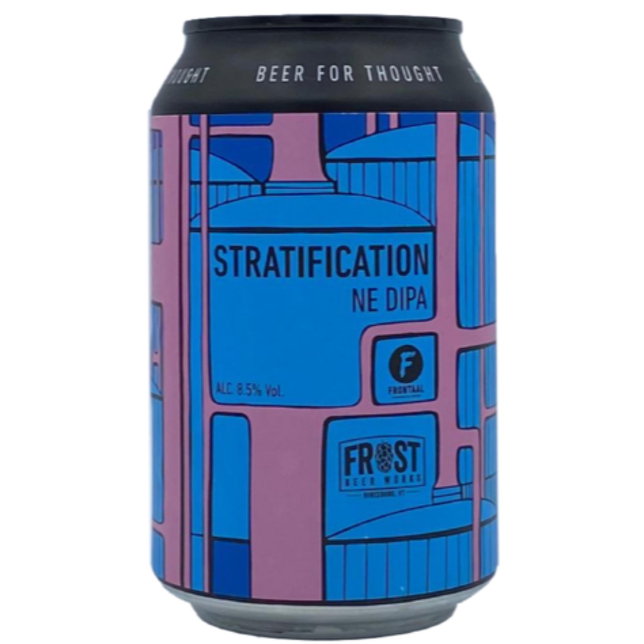 Stratification NE DIPA 8.5% 330ml Brouwerij Frontaal x Frost Beer Works