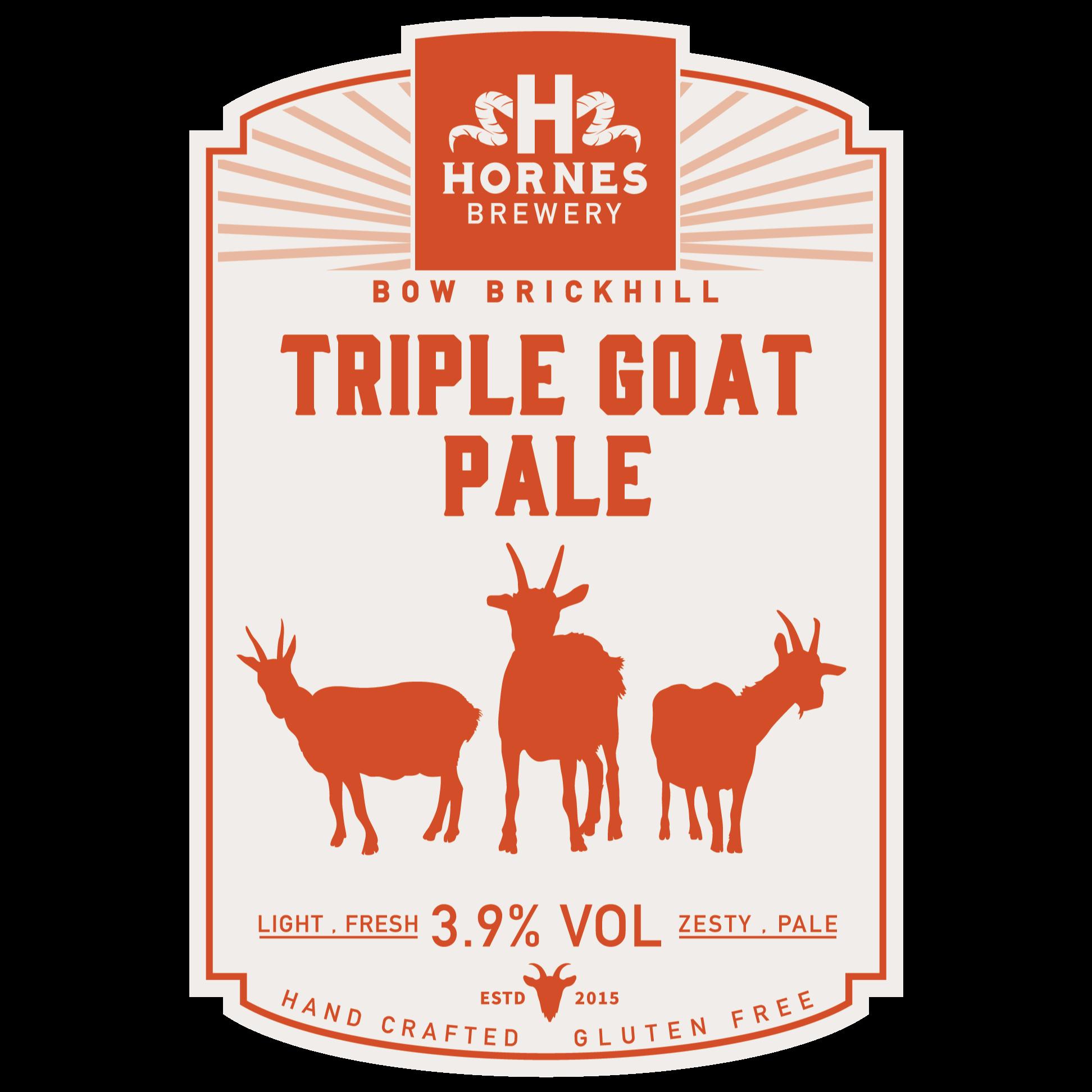 Triple Goat Pale Ale 3.9% 500ml Hornes Brewery