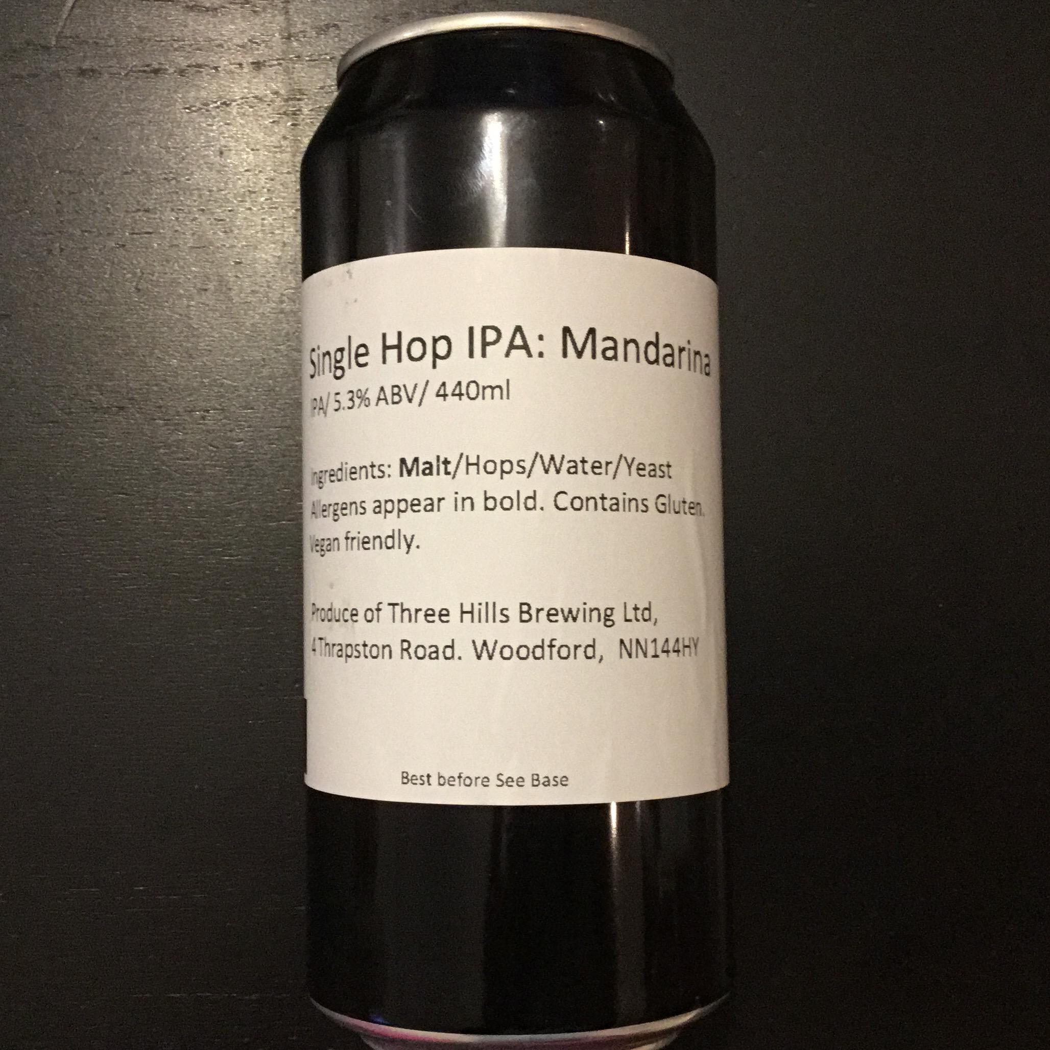 Mandarina Single Hop IPA 5.3% 440ml Three Hills Brewing