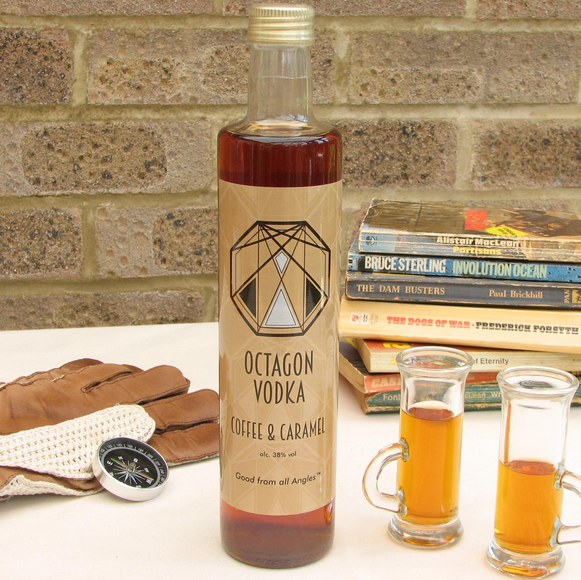 Coffee & Caramel Octagon Vodka 38% 100ml, 250ml & 500ml