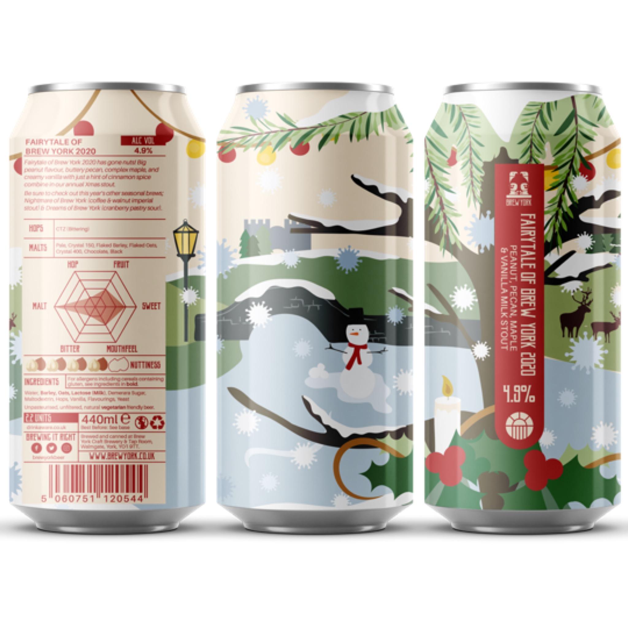 Fairytale Of Brew York 2020 Peanut, Pecan, Maple & Vanilla Milk Stout 4.9% 440ml