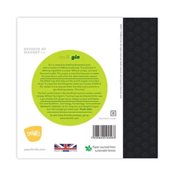 Gin Lime Greetings Card (with magnet)