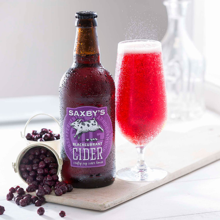 Saxby's Blackcurrant Cider 3.8% 500ml & 3litre Bag In The Box