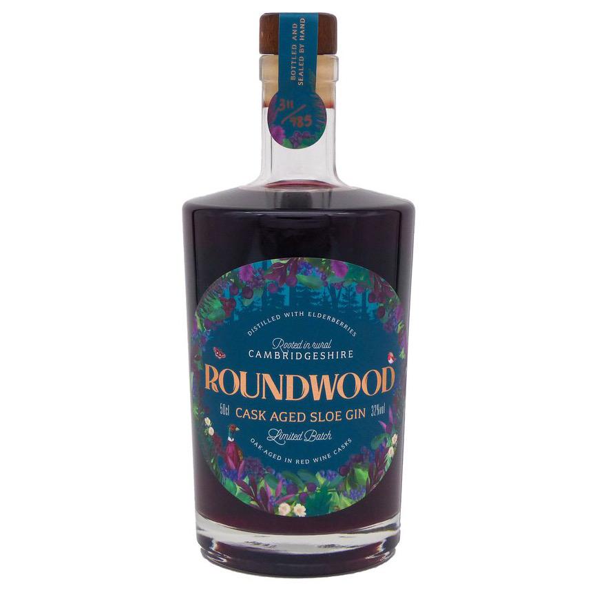 Cask Aged Sloe Gin 32% 500ml Roundwood