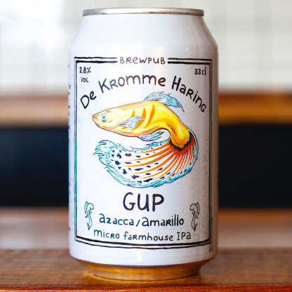 Gup Azacca-Amarillo  Micro Farmhouse IPA 2.8% 330ml De Kromme Haring