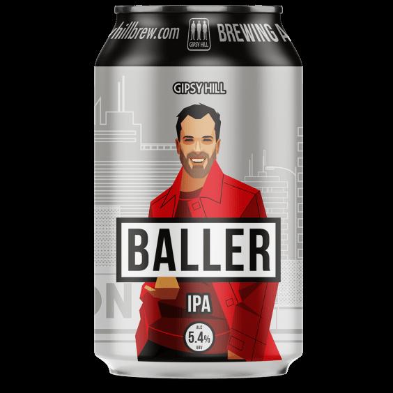 Baller IPA 5.4% 330ml Gipsy Hill Brewing