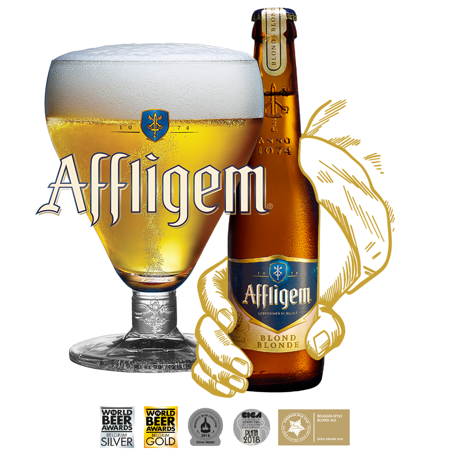 Affligem Blond 6.8% 300ml Abbey Beer