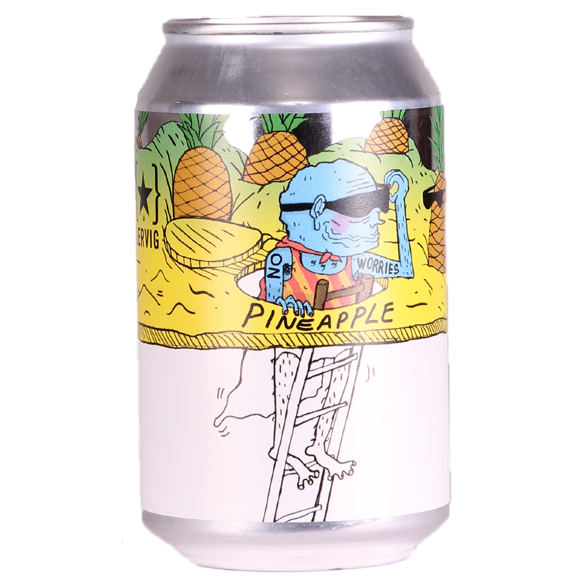 No Worries Pineapple Alcohol Free 0.5% 330ml Lervig Brewing