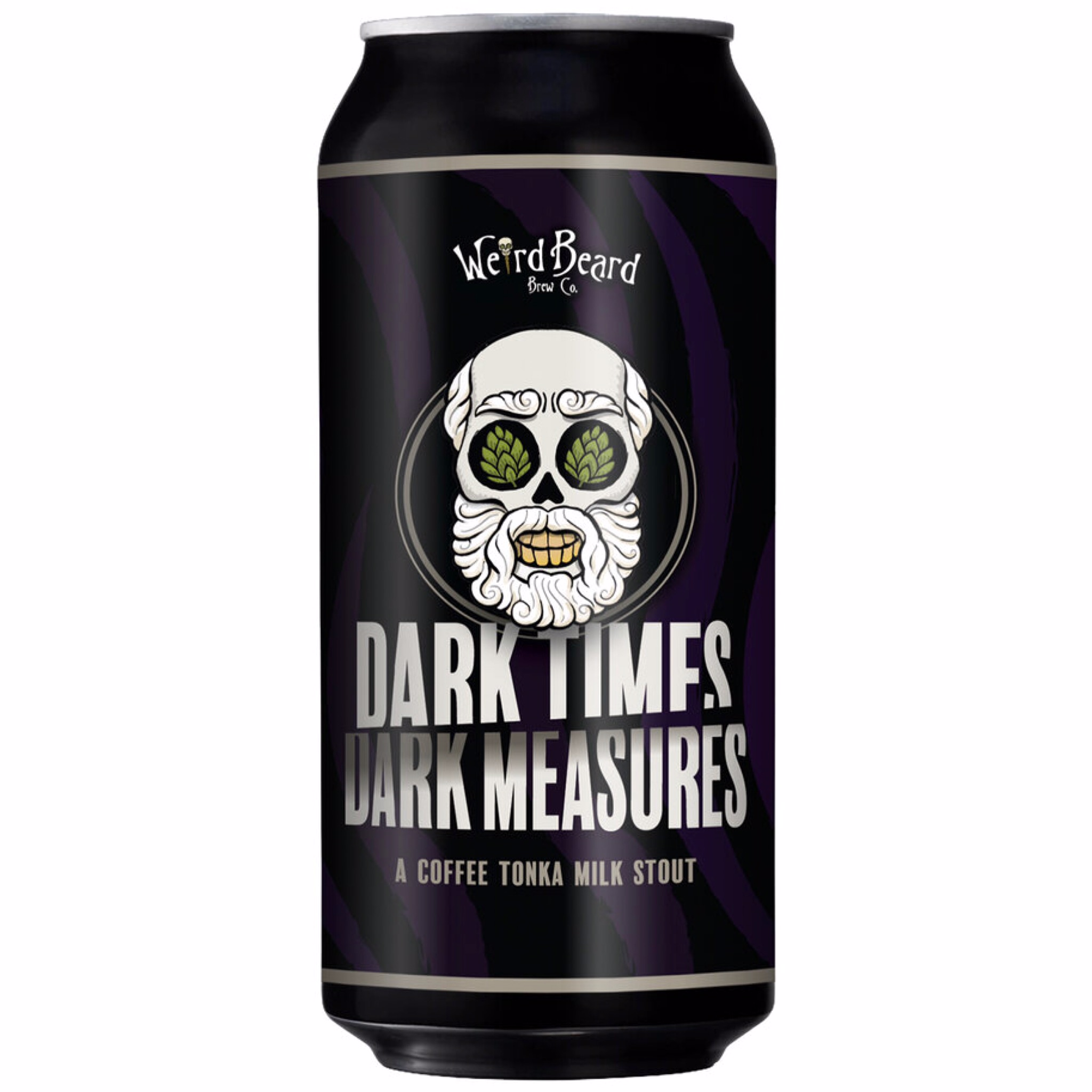 Dark Times Dark Measures Coffee Tonka Milk Stout 6.2% 440ml Weird Beard Brew Co