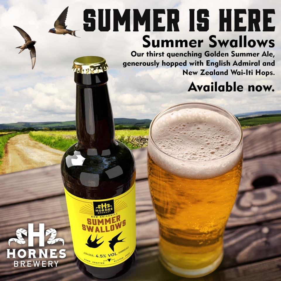 Summer Swallows Golden Ale 4.5% 500ml Hornes Brewery