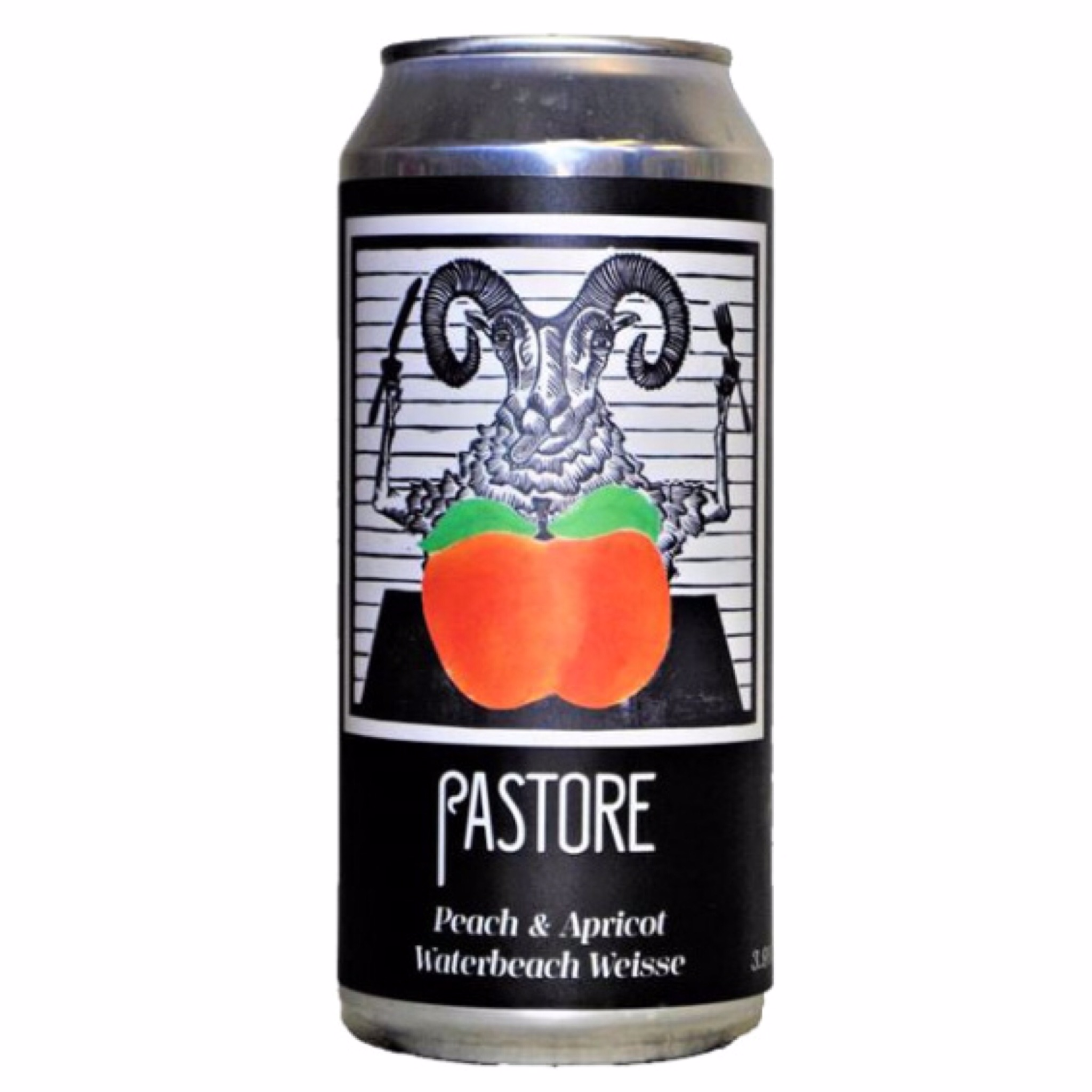 Peach & Apricot Waterbeach Weisse 3.9% 440ml Pastore Brewing