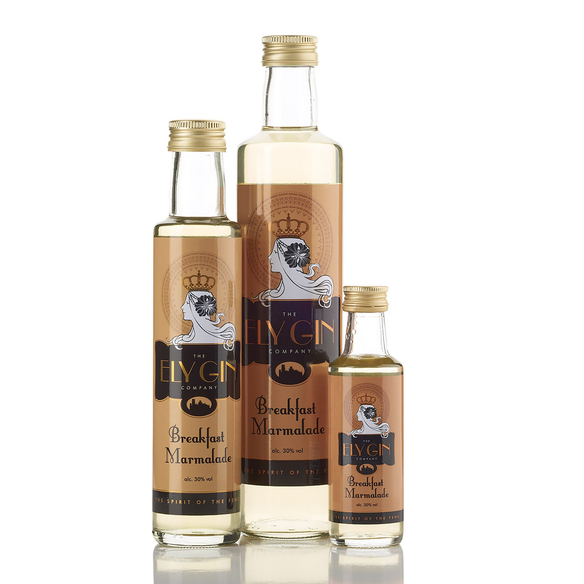 Ely Gin with Breakfast Marmalade 30% 100ml, 250ml & 500ml