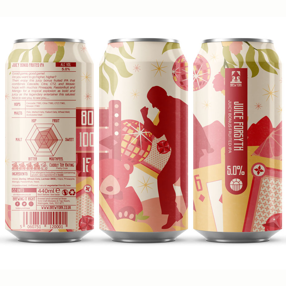 Juice Forsyth Tropical IPA 5% 440ml Brew York
