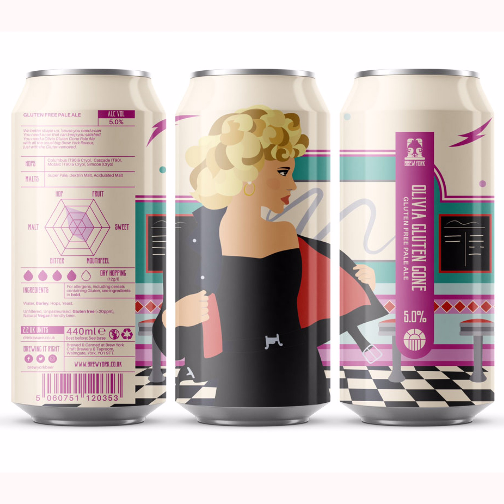Olivia Gluten Gone GF Pale Ale 5% 440ml Brew York