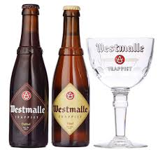 Westmalle Trappist Gift Pack 2 X 330ml Bottles With Glass