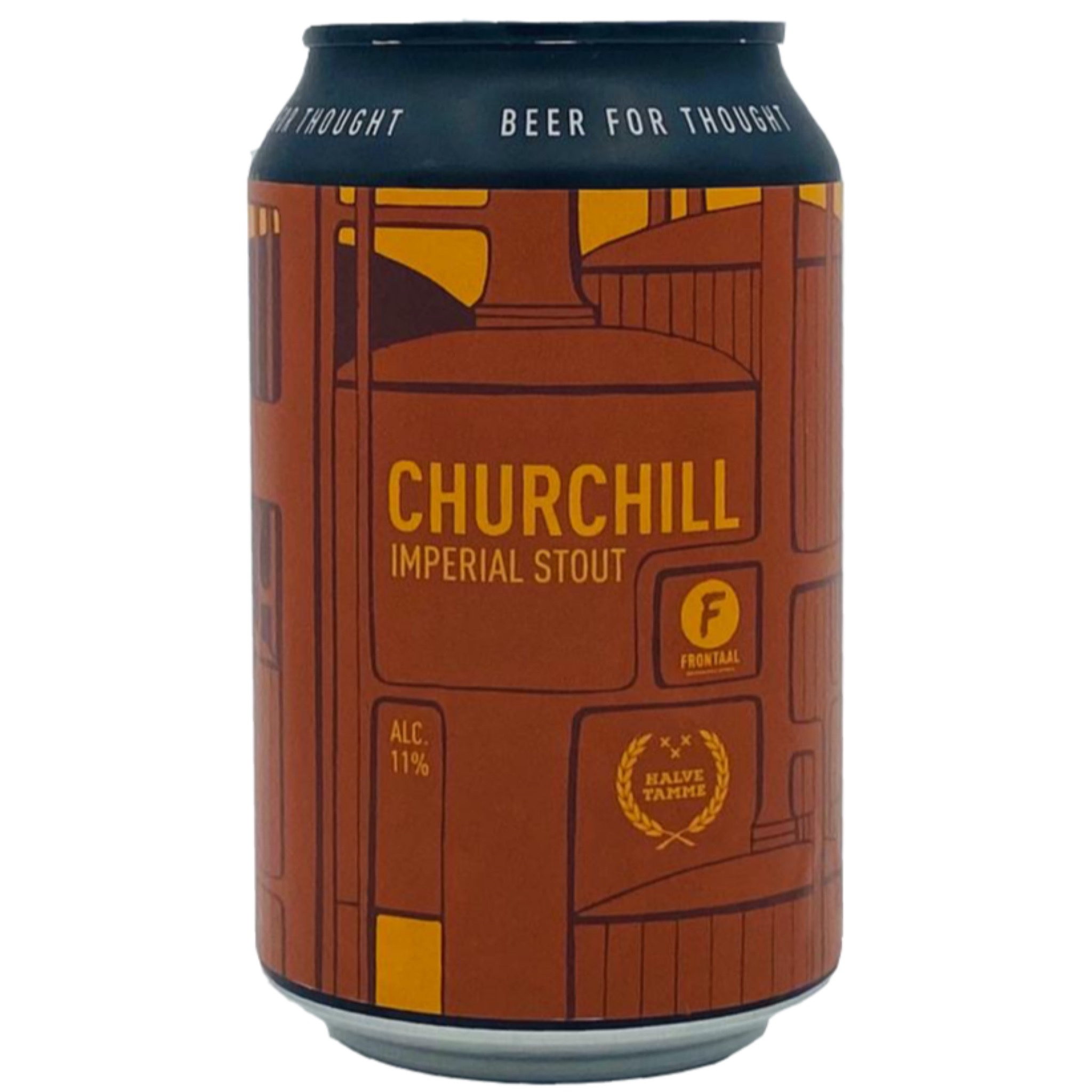 Churchill  Imperial Stout 11% 330ml Brouwerij Frontaal