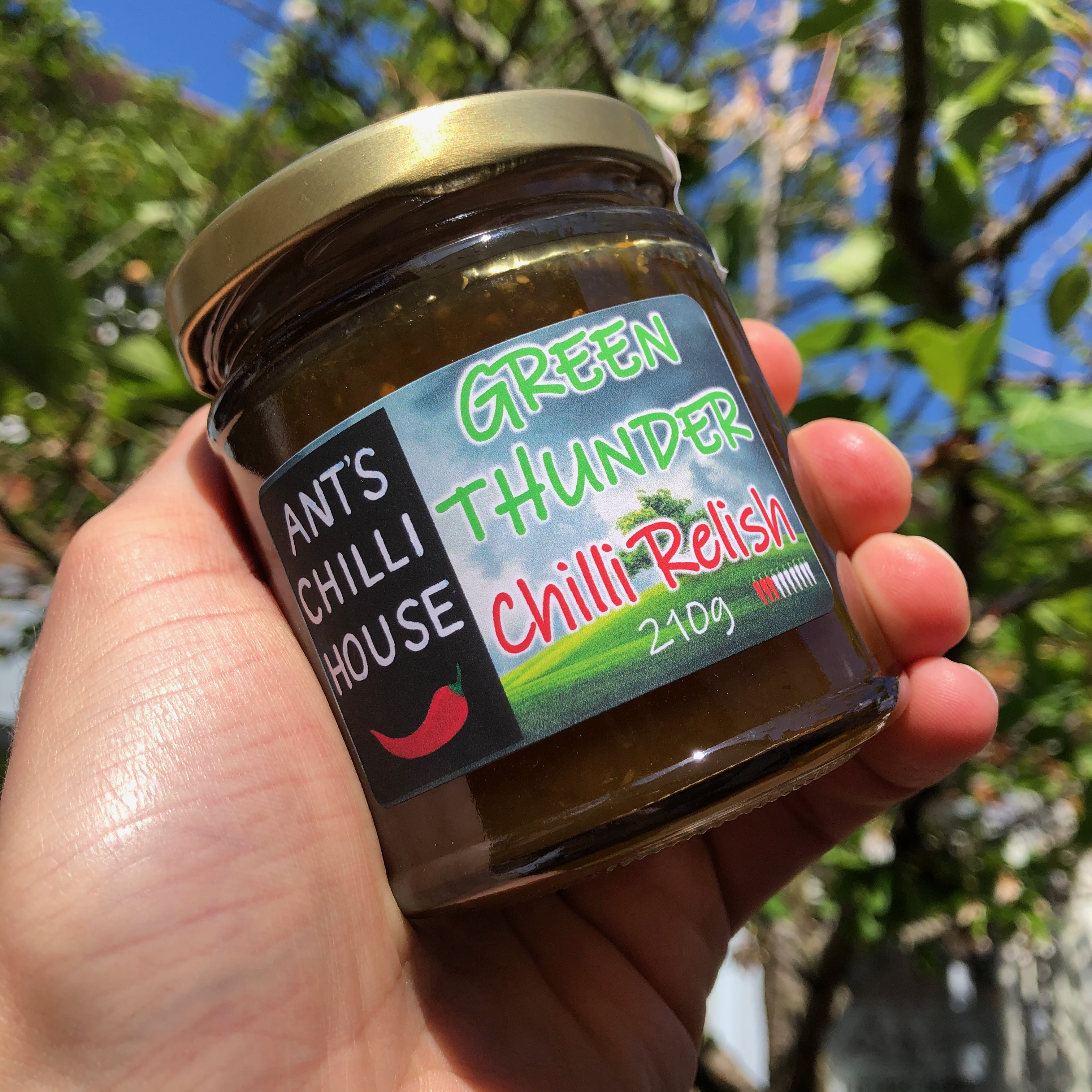 Ants Chilli House - Green Thunder Chilli Relish 210g