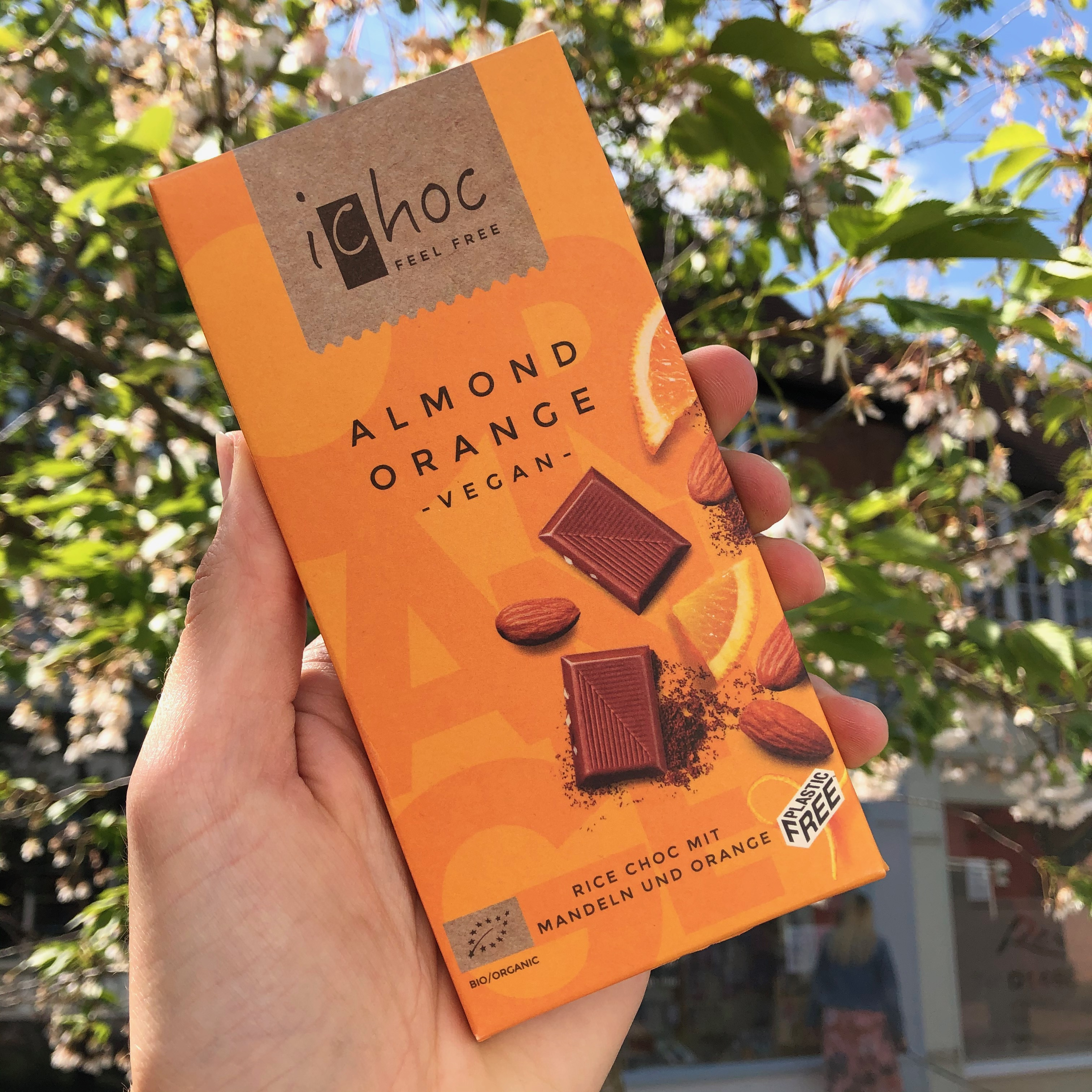 I Choc Almond Orange 80g