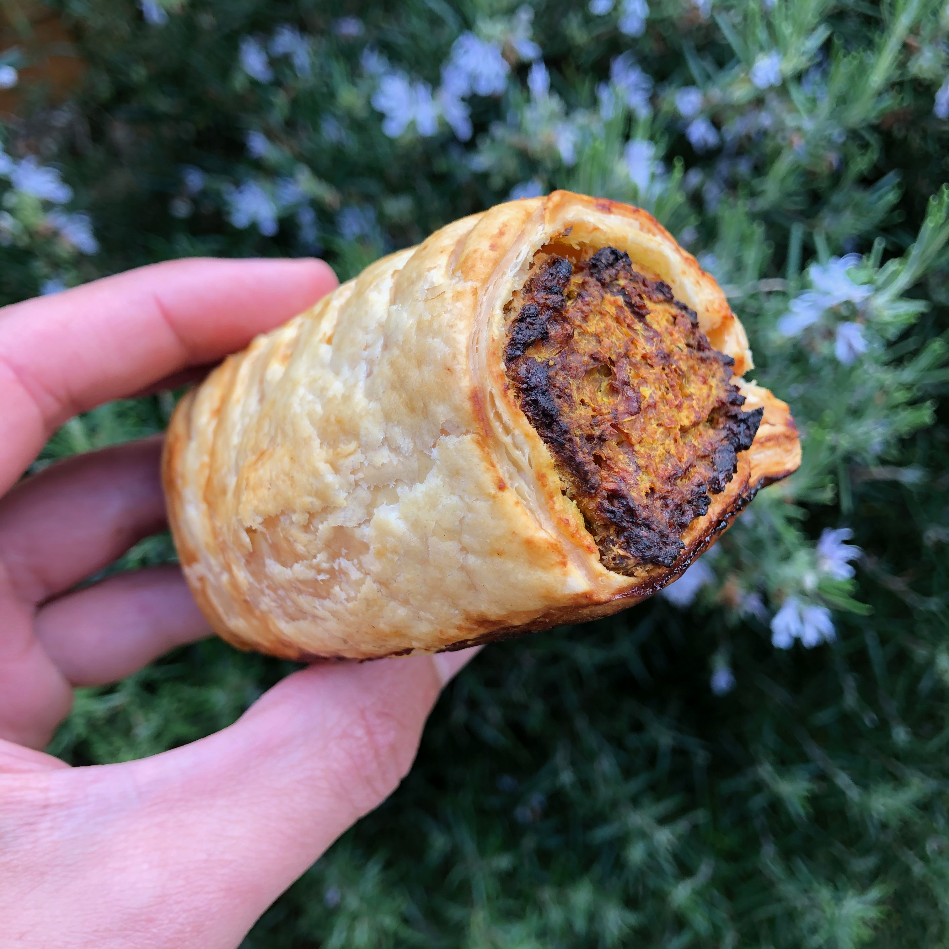 Frozen Uncooked Curried Sausage Roll