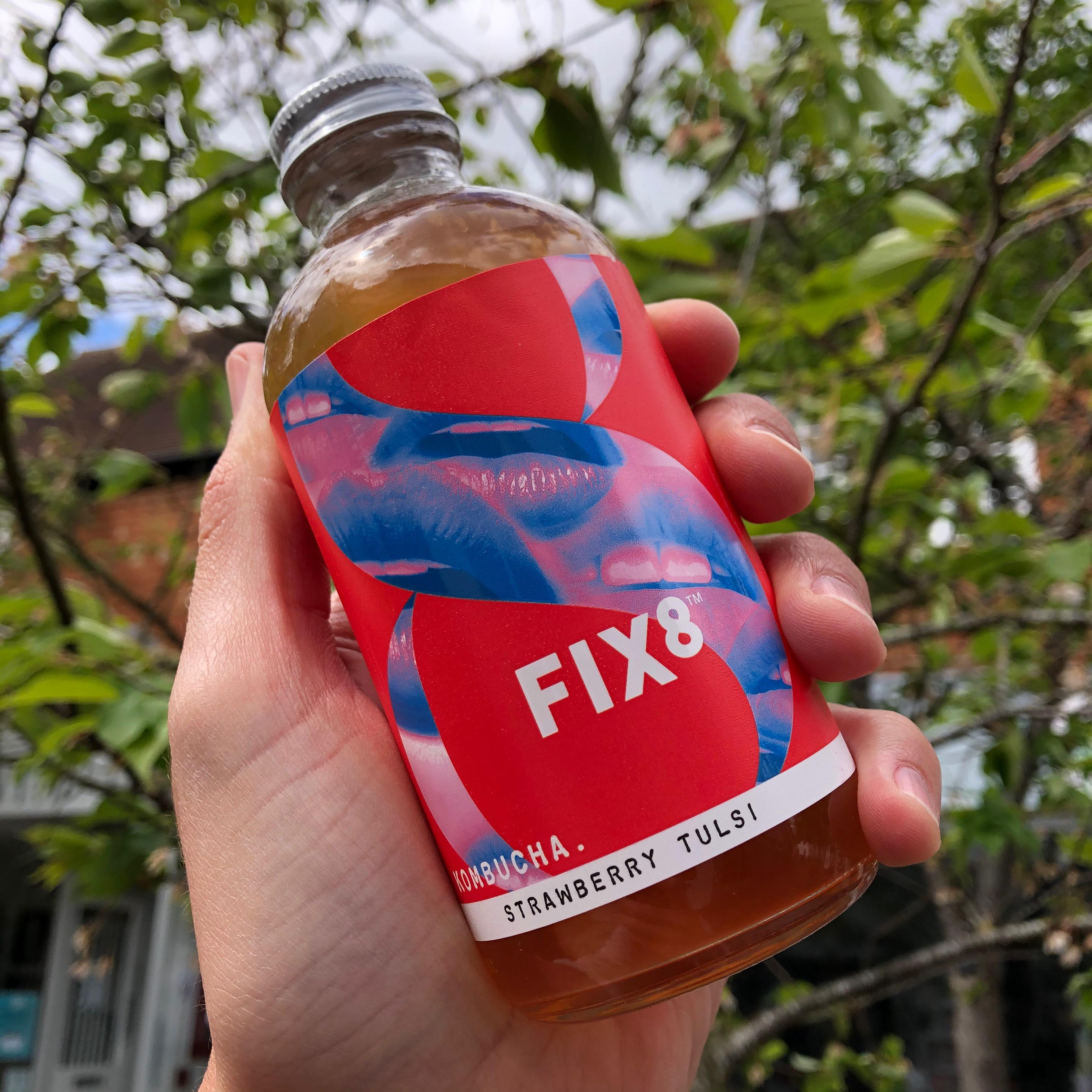 Fix8 Strawberry Tulsi Kombucha