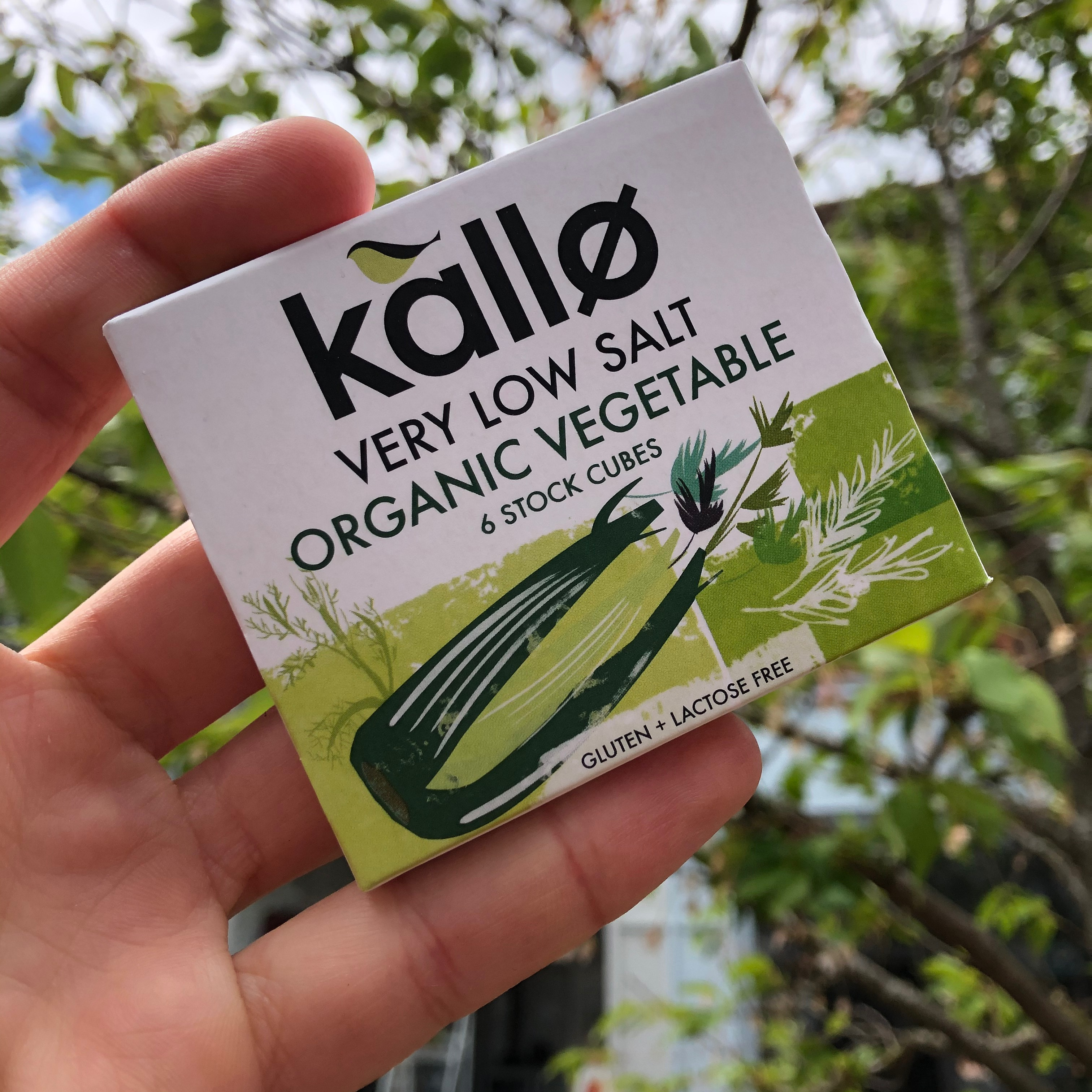 Kallo Very Low Salt Organic Veg Stock Cubes (6)
