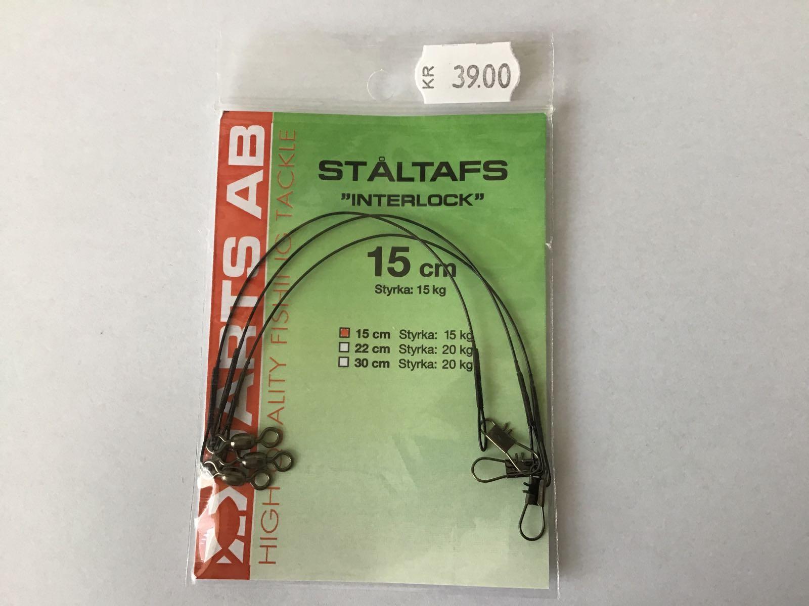 Darts ståltafs interlock 15cm