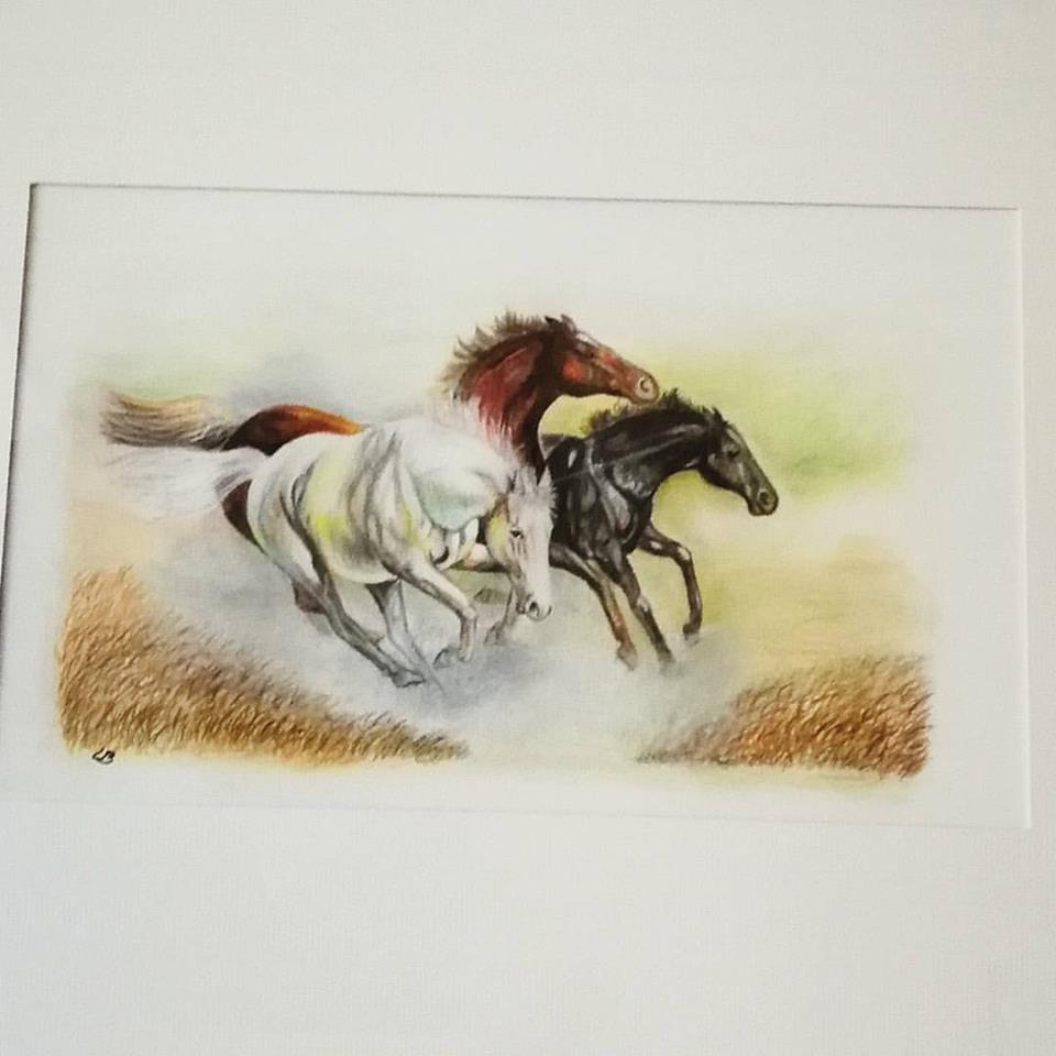 Håndtegnet heste billede