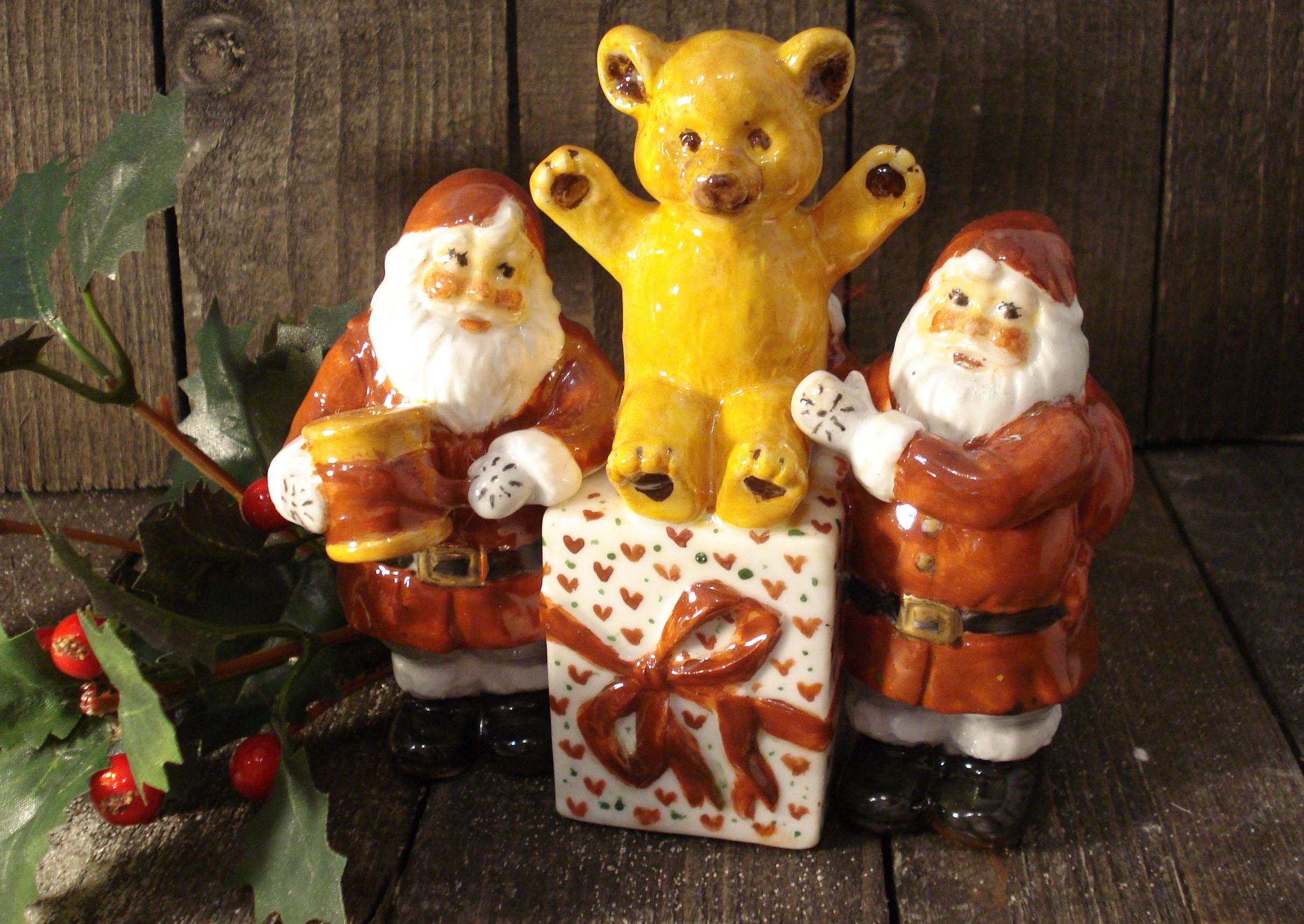 Bamse med julemænd