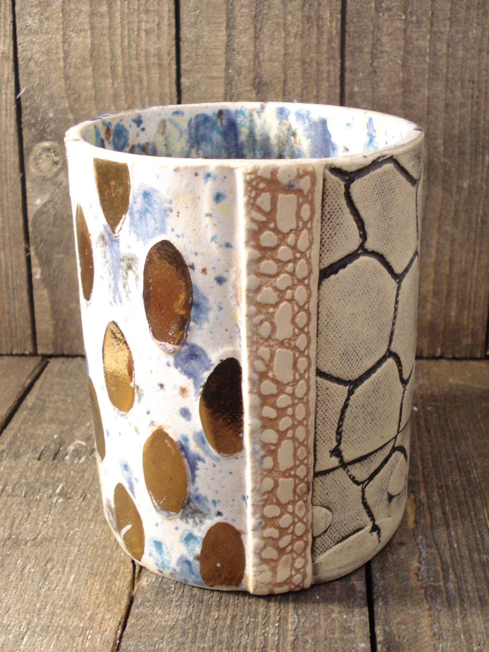 Blå kronhjort vase