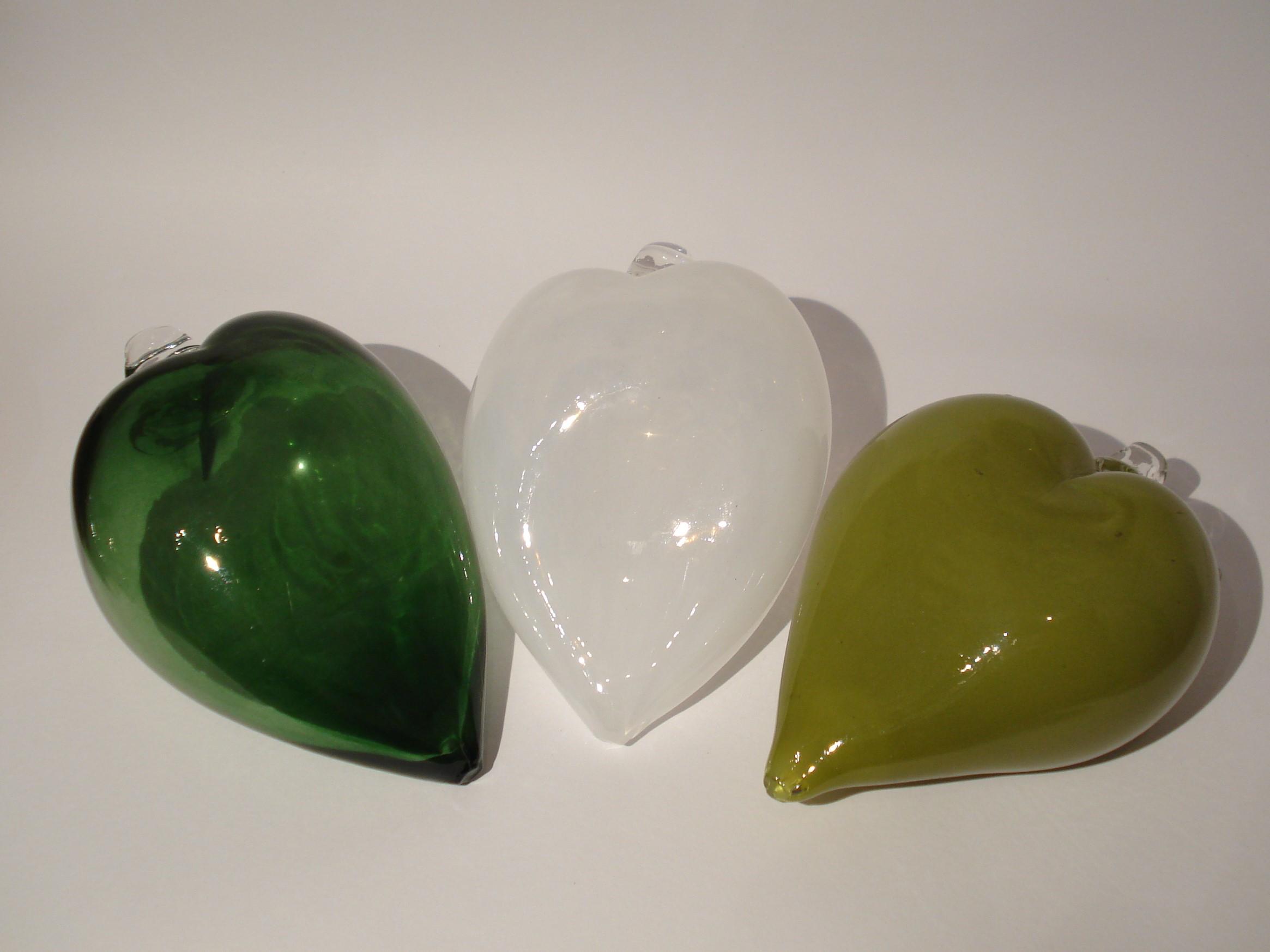 Glas hjerter fra Anne Flohr