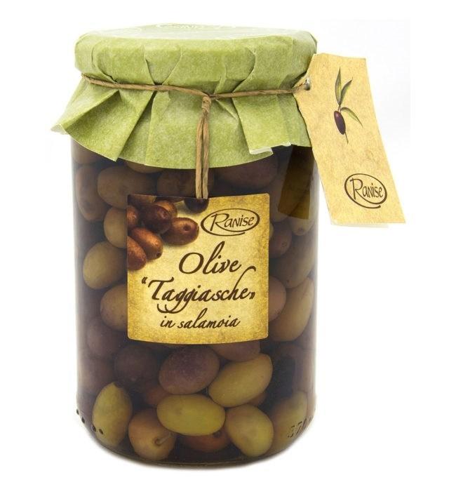Ranise Taggiasca oliven i saltvandlage