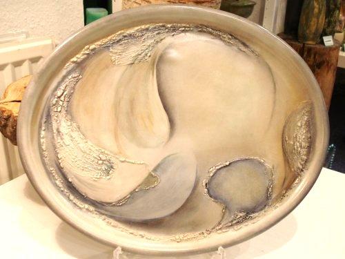 Håndmalet porcelænsfad, Østers