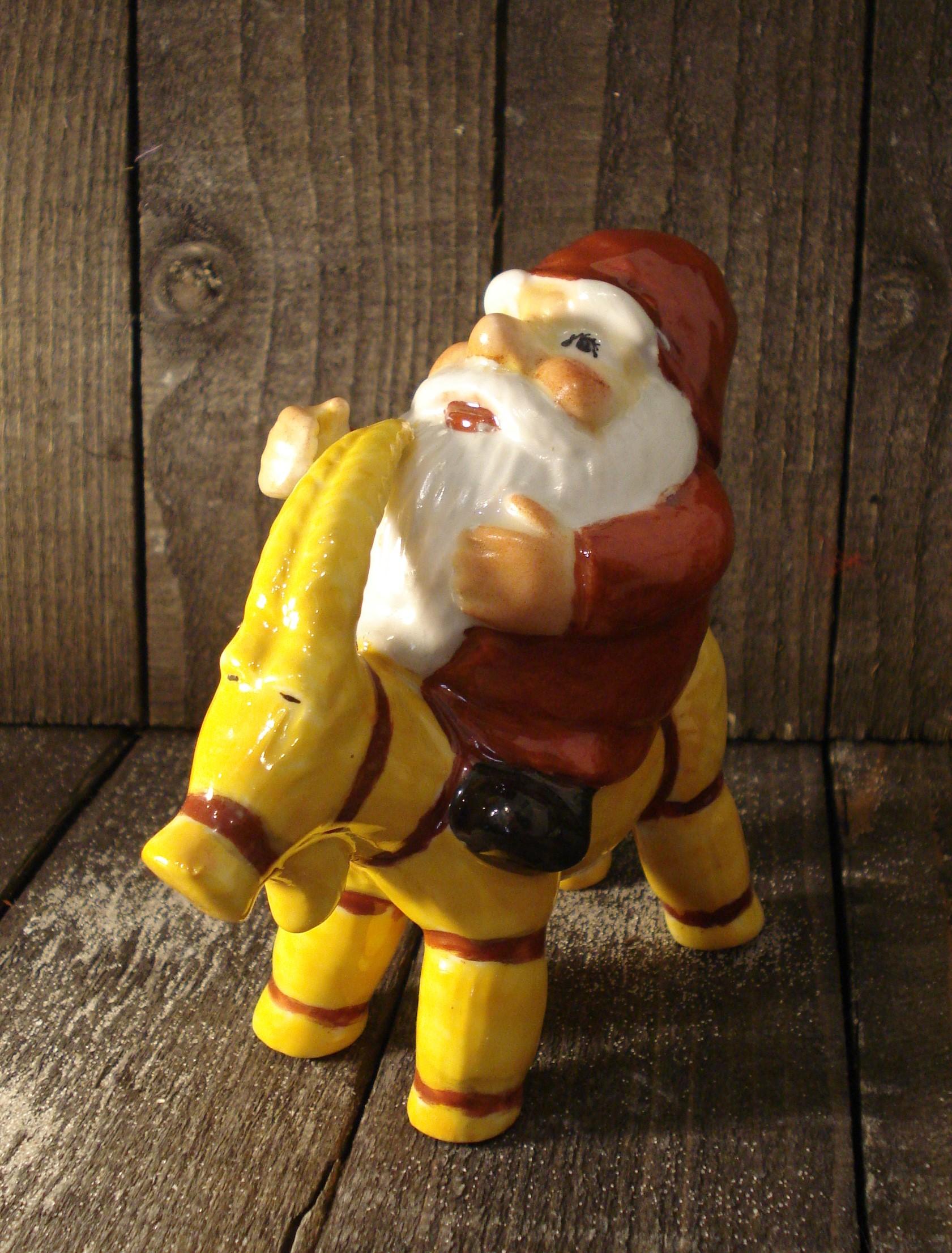 Julemand på buk