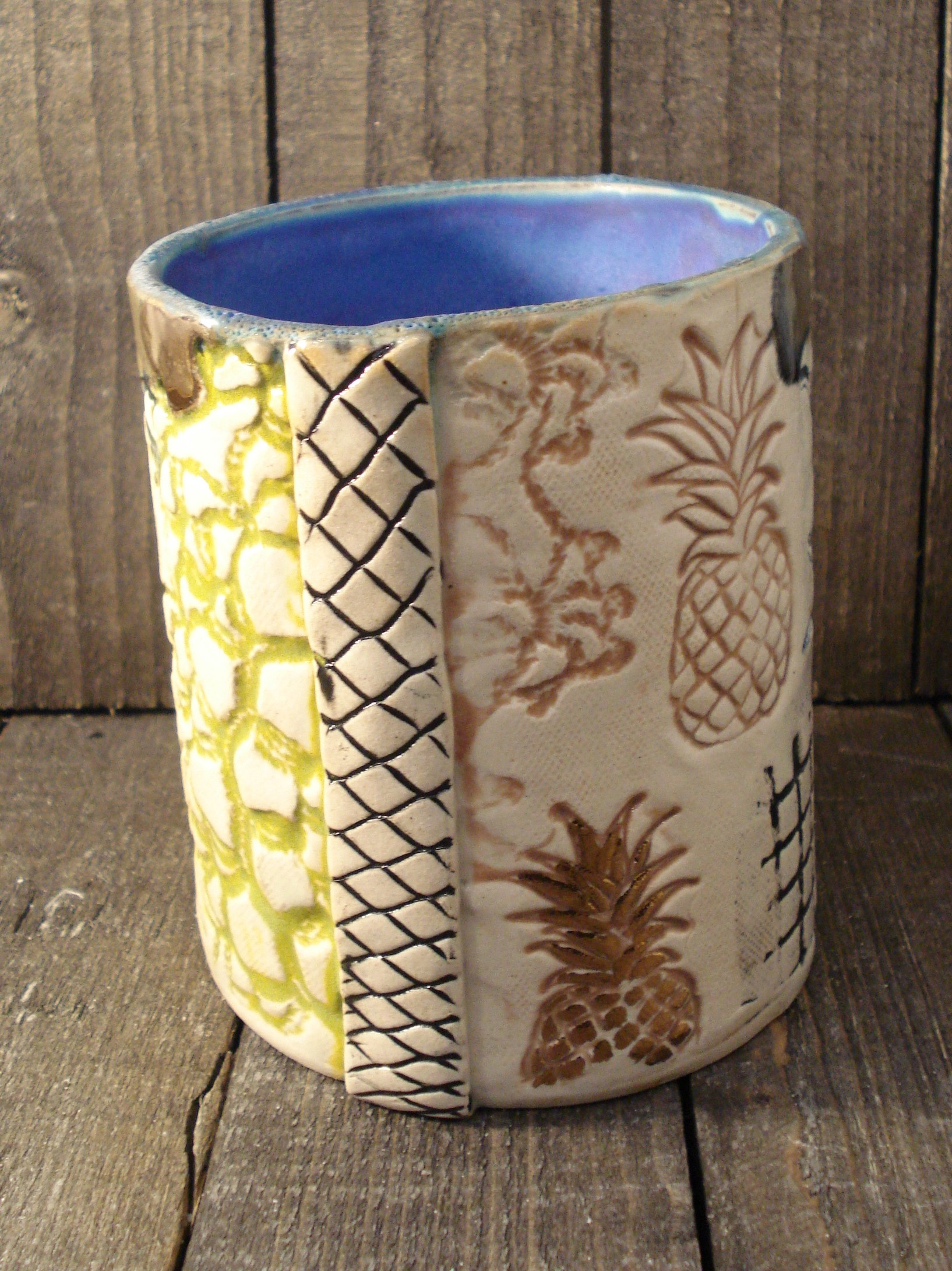 Blå vase fra Inge Frederiksen