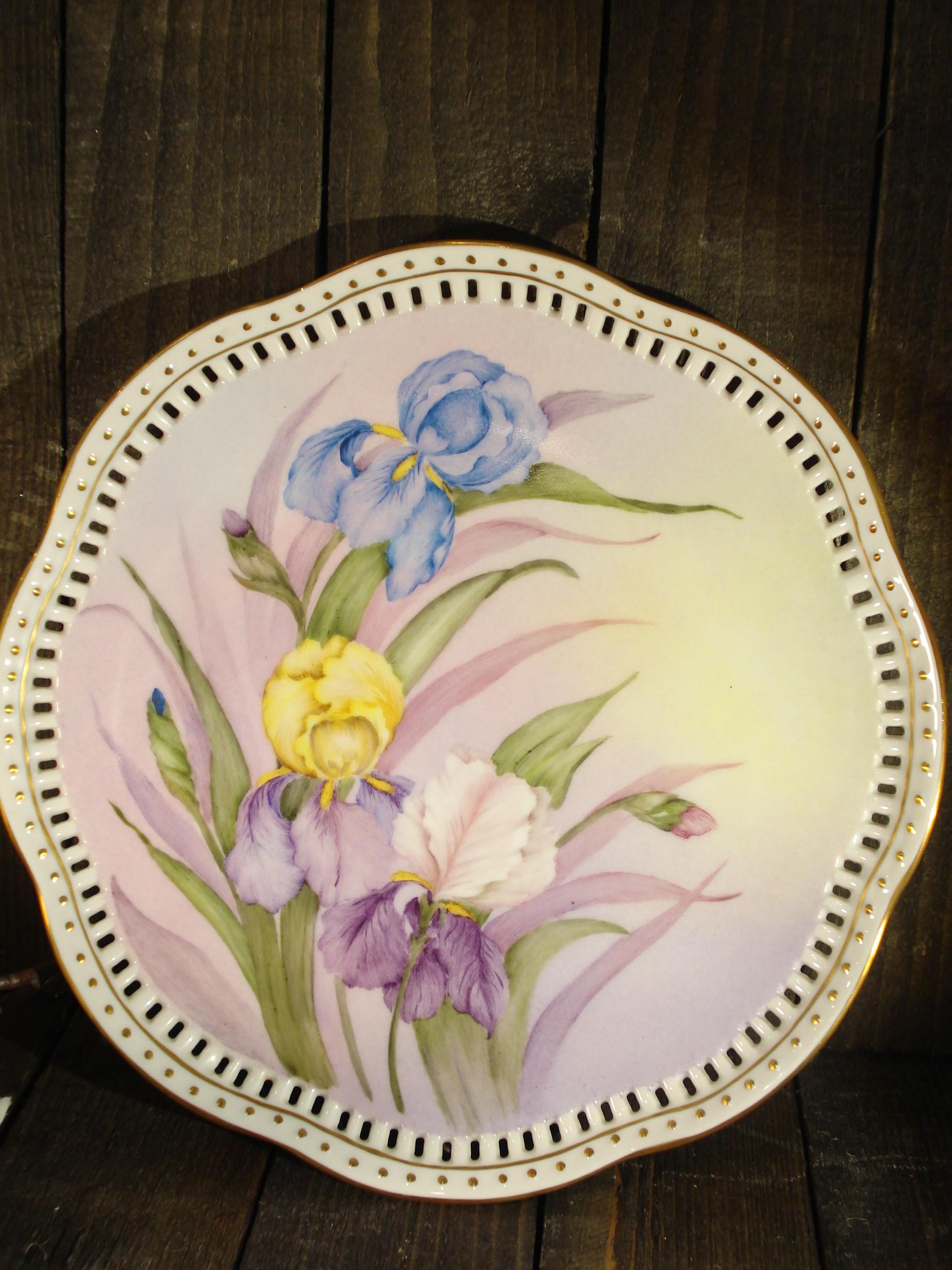 Håndmalet porcelænsfad