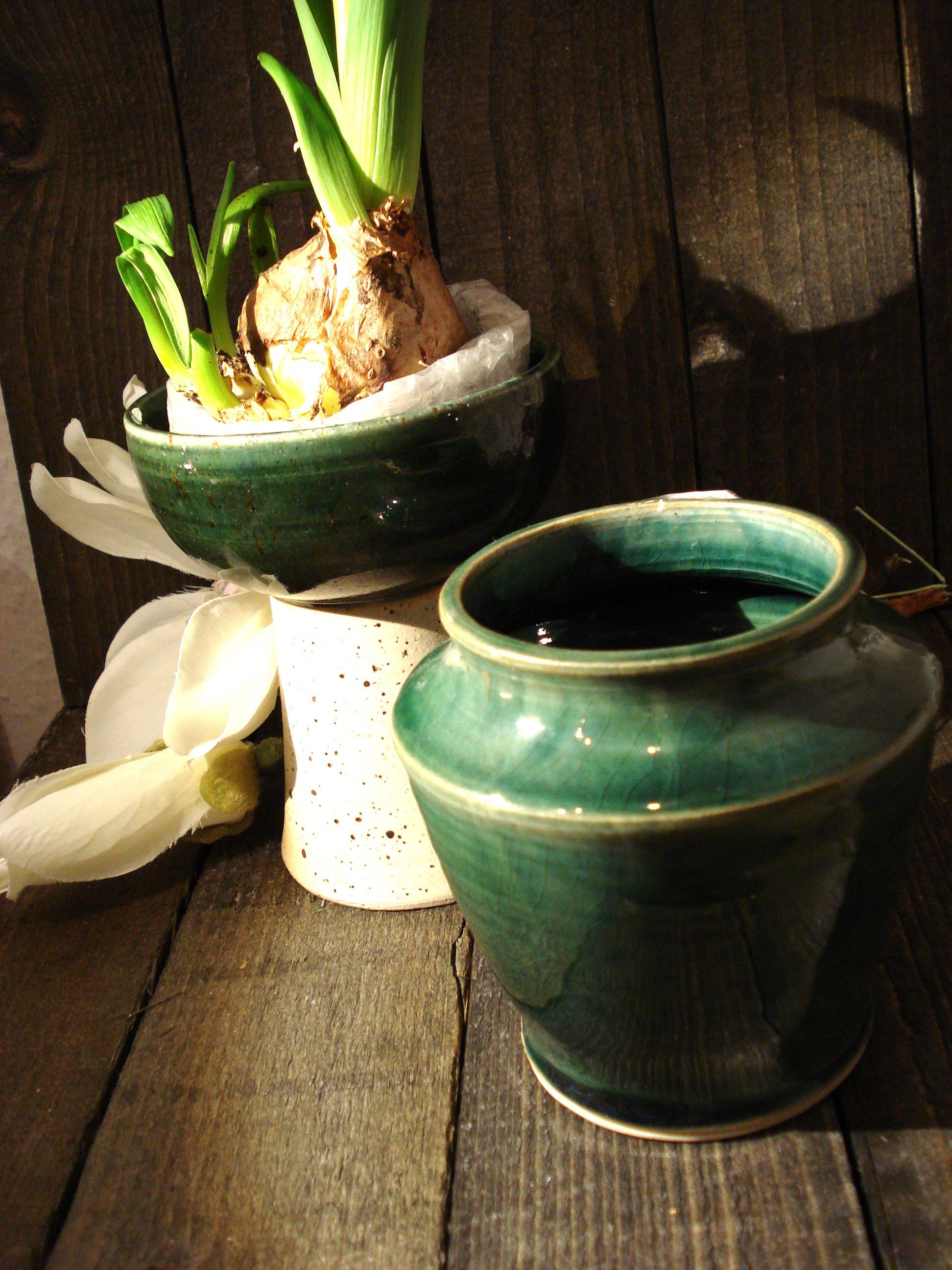 Grøn vase fra Signe Kähler