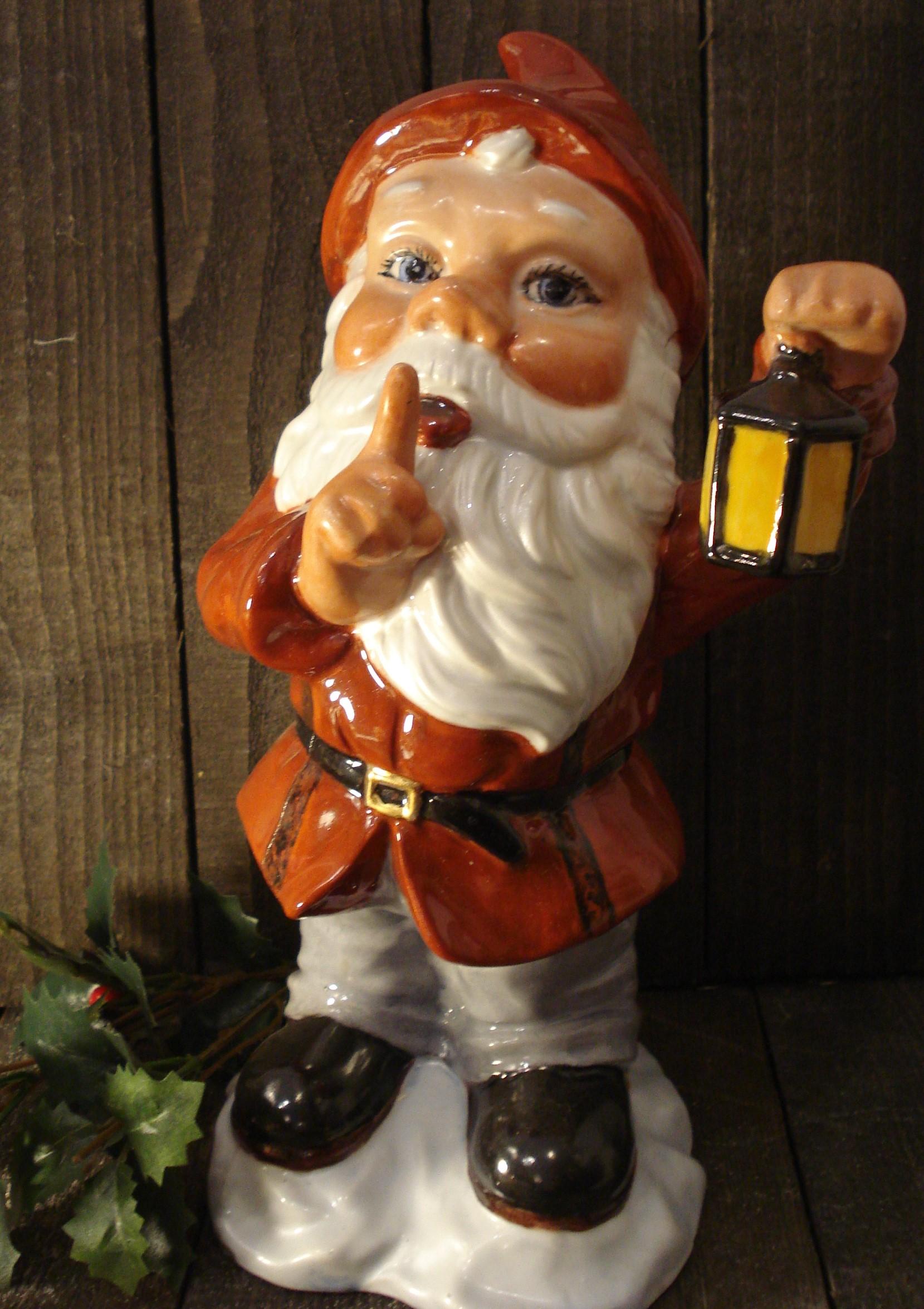 Stor julemand med lygte
