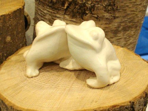Kærlighedsfrøer i porcelæn