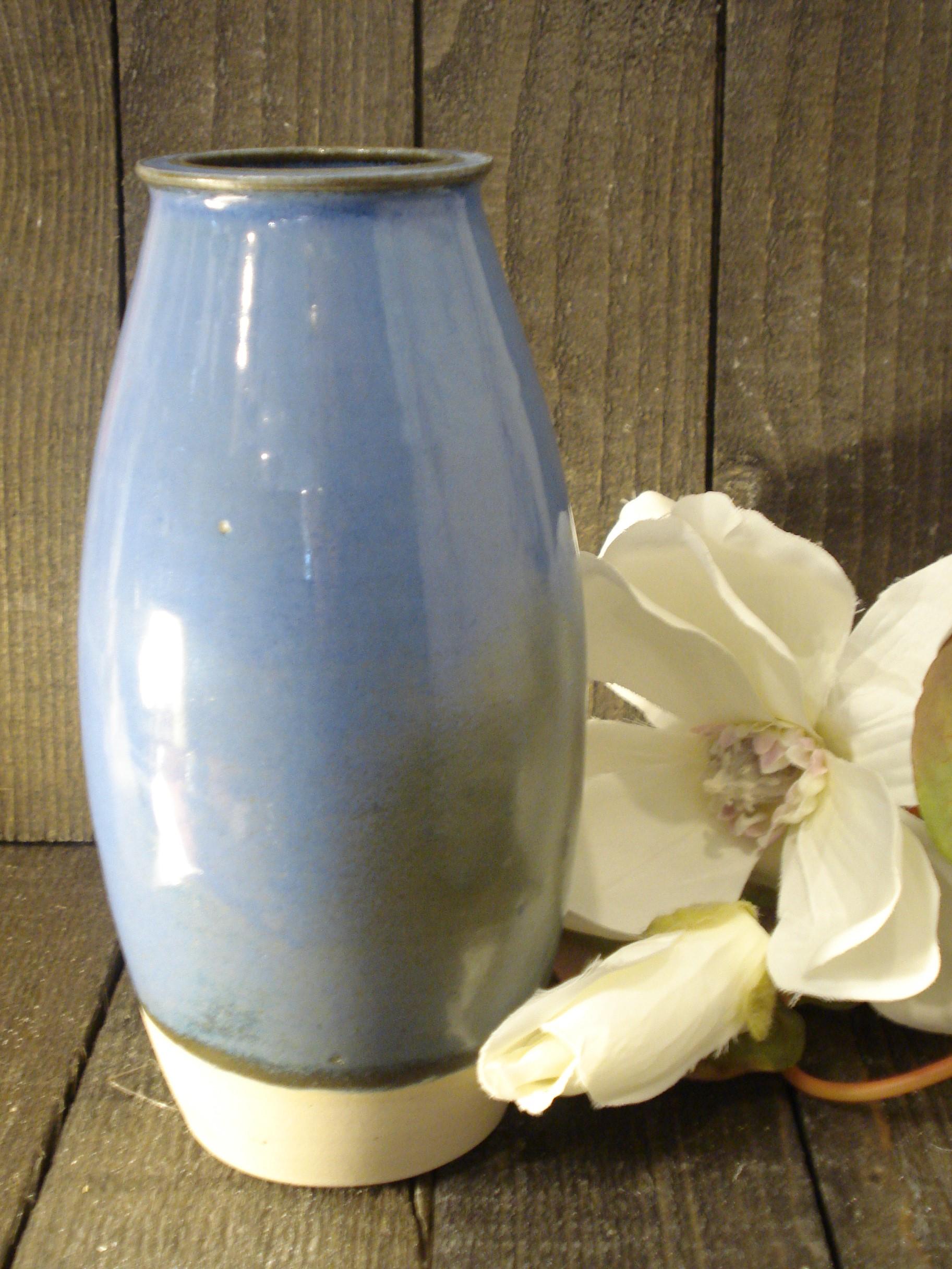 Blå/grøn vase fra Lars Kähler