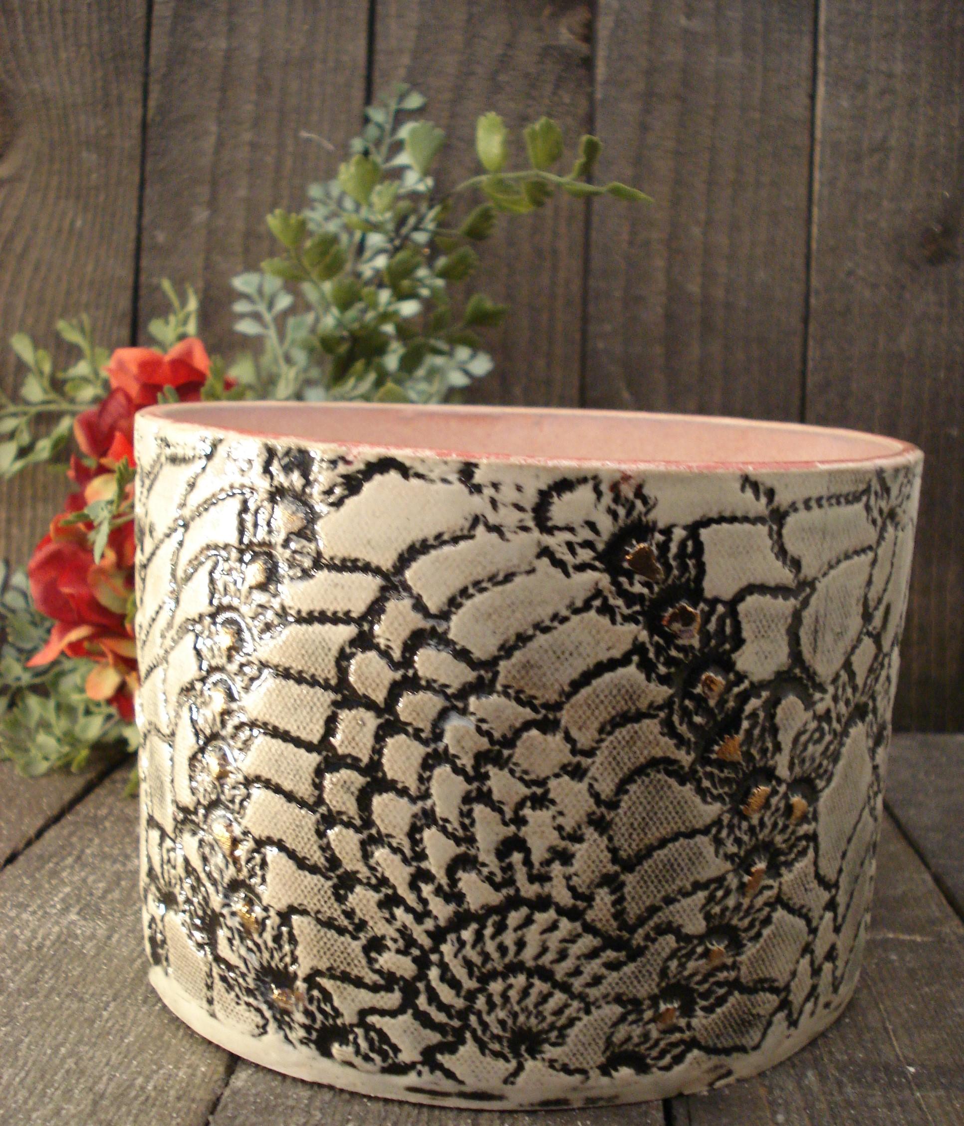 Lav keramik vase/skål i rød