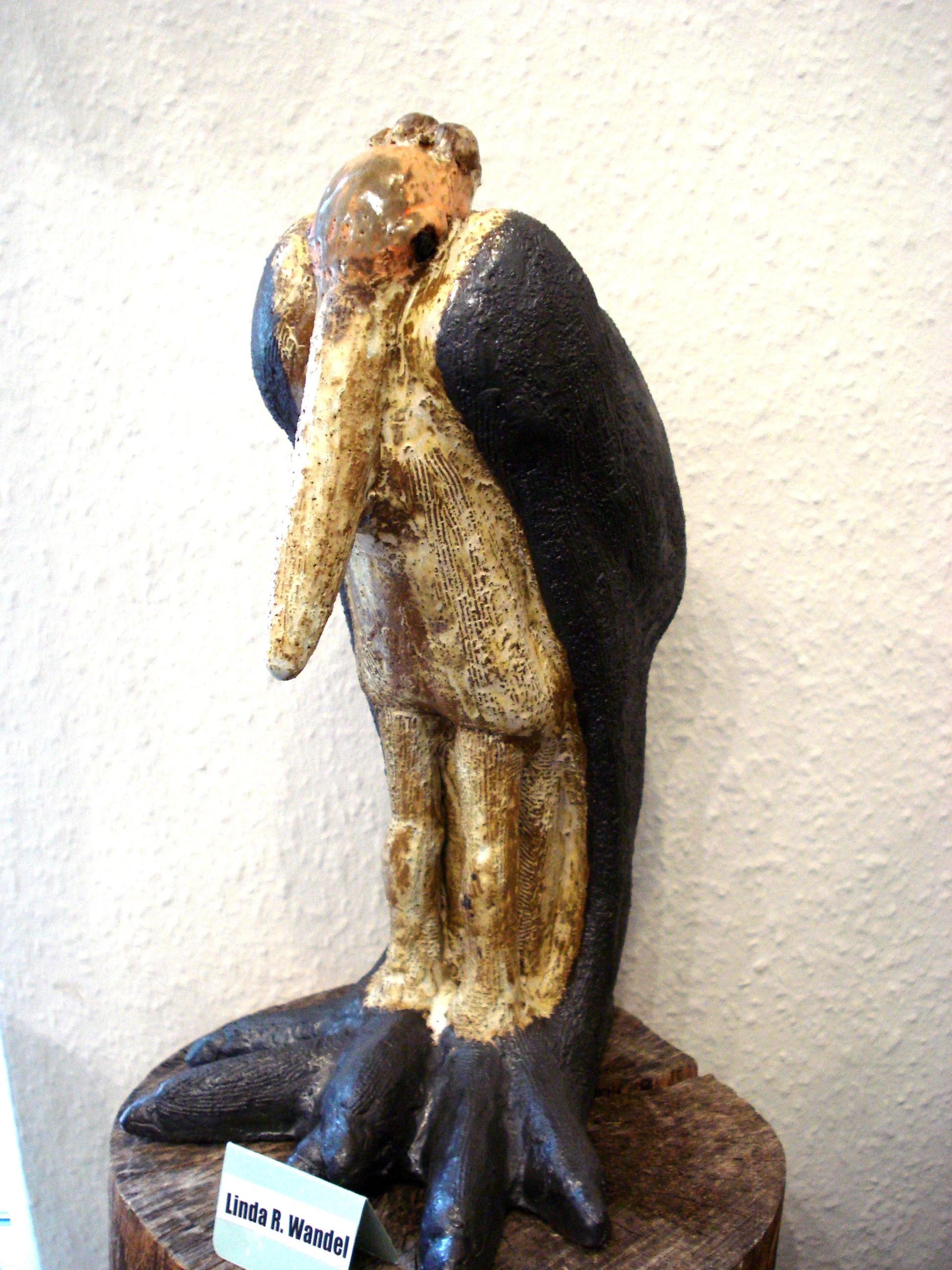 Marabu stork i stentøj