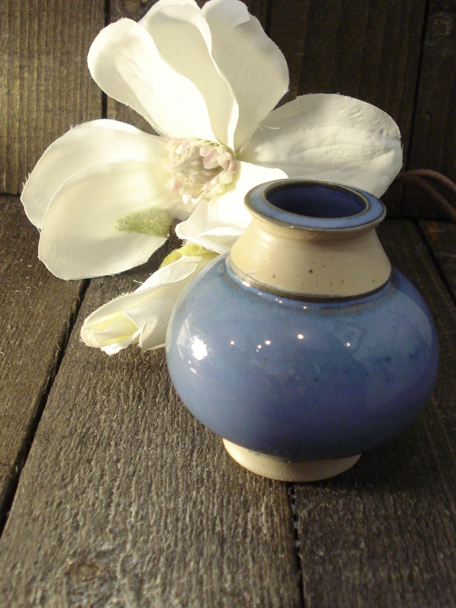 Blå vase fra Lars Lähler