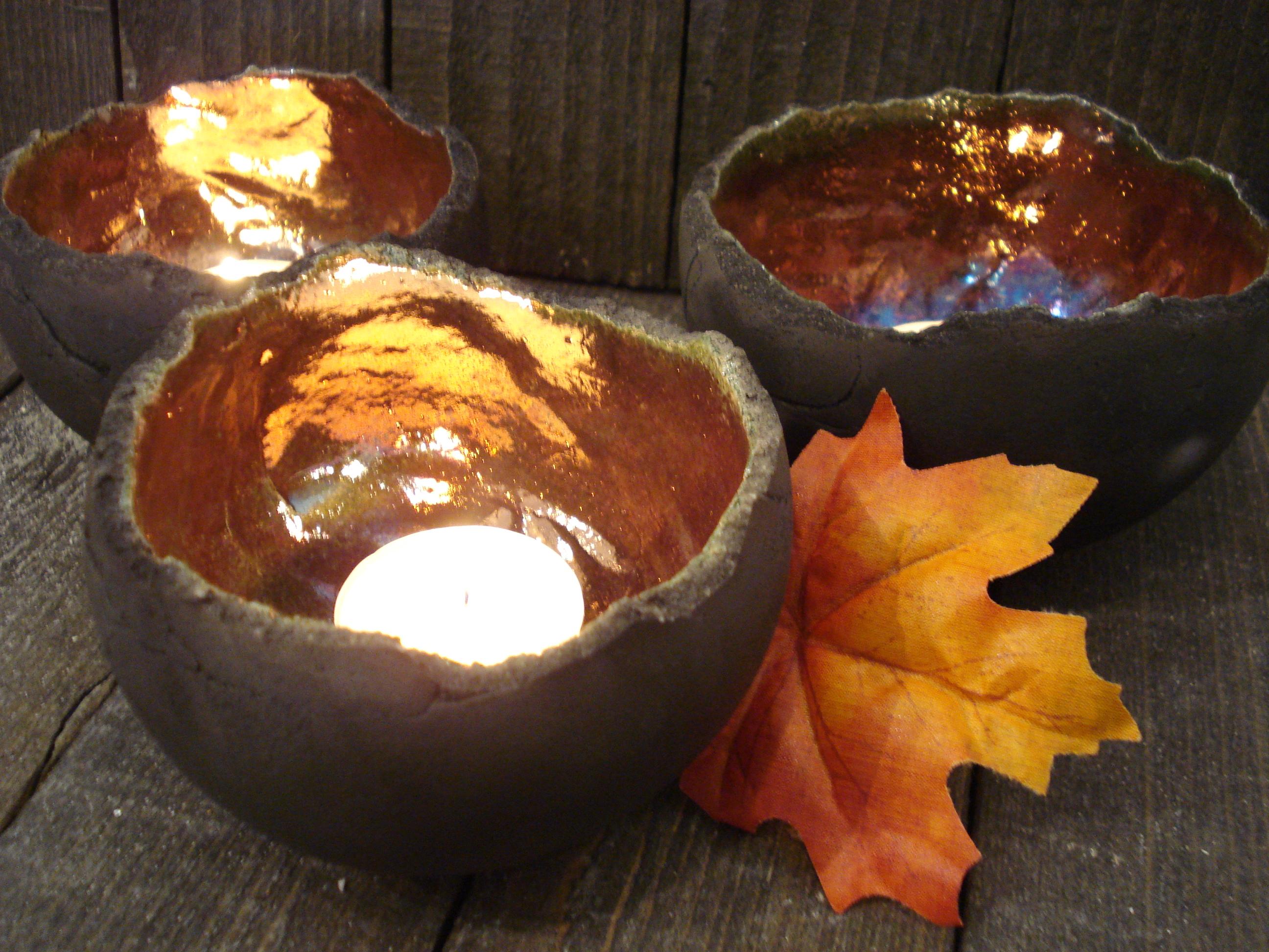 Lysskåle i raku fra Lerværket