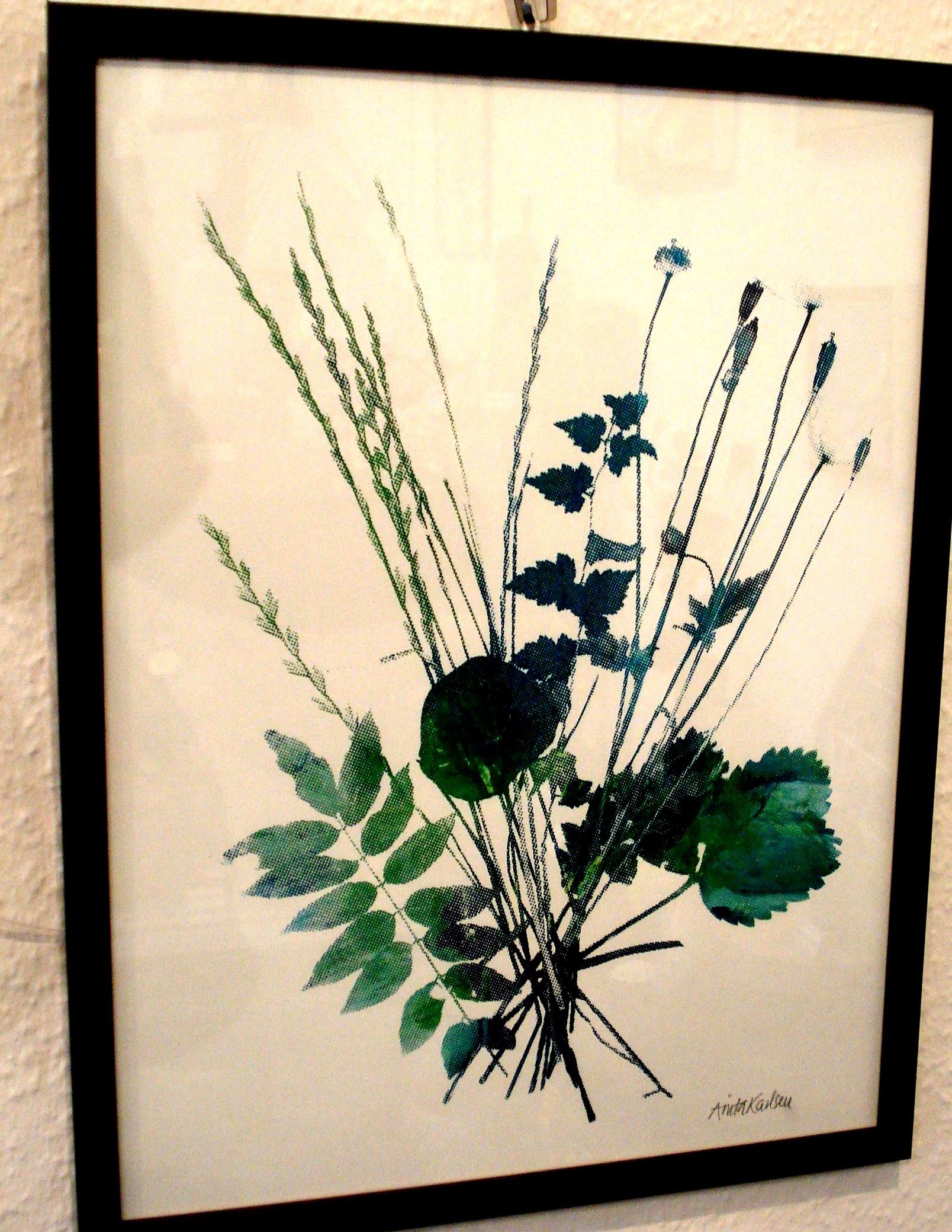 Buket i grøn- og blålige nuancer