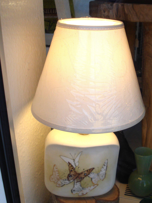Håndmalet porcelæns lampe