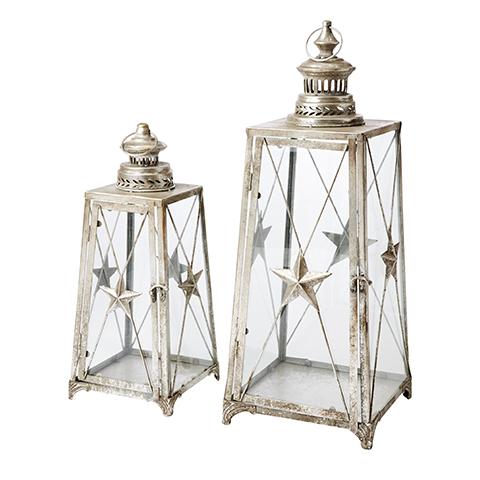 Lanterner i sølvfarve